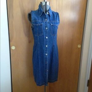 Vintage Bill Blass Denim maxi dress small